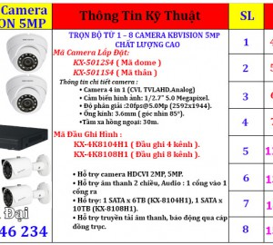 Lắp đặt trọn gói camera giám sát kbvision