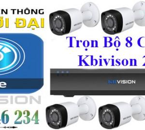 Lắp đặt trọn bộ 8 camera KBVISION 1080P