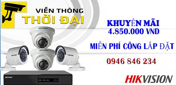 Lắp đặt trọn bộ 4 - 8 -16 camera hikvision 2.0mp giá rẻ
