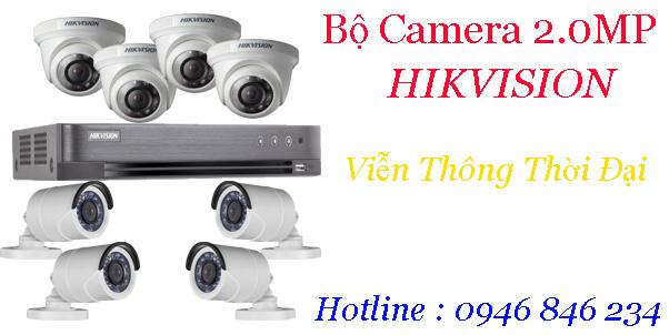 Bảng giá trọn bộ 5-8 camera hikvision 2mp