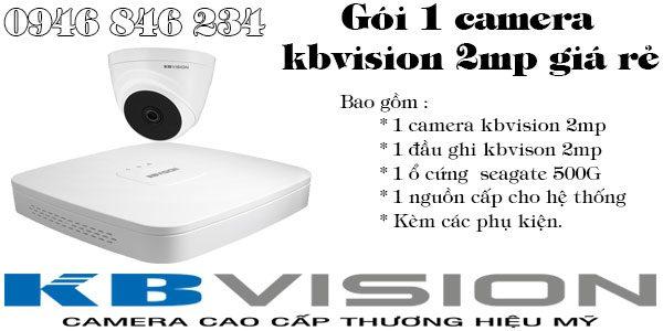 Bộ 1 camera kbvision giá rẻ