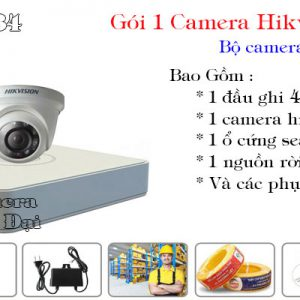 Bộ 1 camera hikvision 2 mp giá rẻ