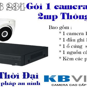Bộ 1 camera kbvision 2mp thông dụng
