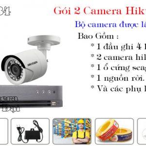 Bộ 2 camera hikvision 2mp phổ biến