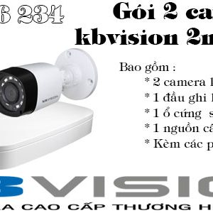 Bộ 2 camera kbivison 2mp giá rẻ