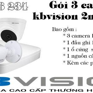 Bộ 3 camera kbvision 2mp giá rẻ