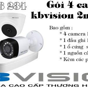 Bộ 4 camera kbvision 2M giá rẻ