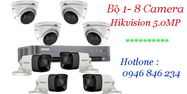 Giá lắp đặt gói camera hikvision 5Mp
